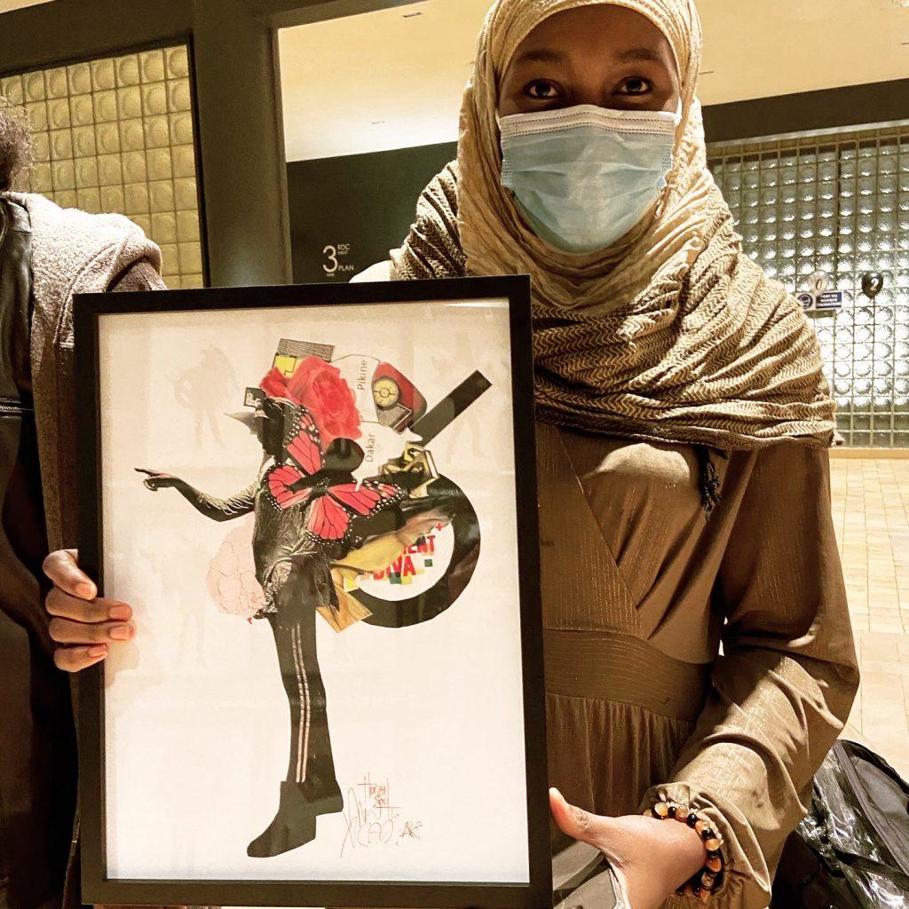 zainabou et son portrait